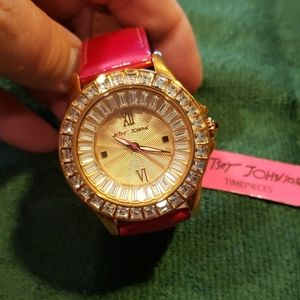 Betsy Johnson NWT Rhinestone Watch